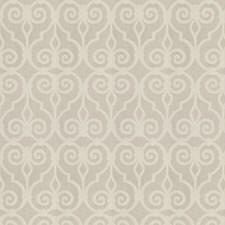 Oatmeal Scrollwork Decorator Fabric by Stroheim