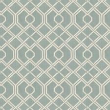 Aqua Embroidery Decorator Fabric by Fabricut