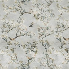 Dusk Blue Floral Decorator Fabric by Vervain