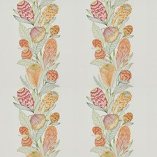 Papaya Embroidery Decorator Fabric by Vervain