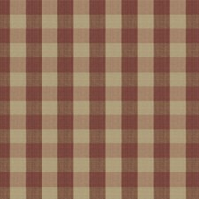 Cranberry Check Decorator Fabric by Vervain