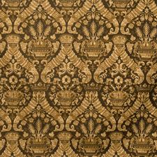 Noir Damask Decorator Fabric by Vervain