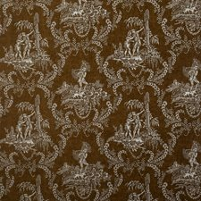 Cocoa Toile Decorator Fabric by Vervain