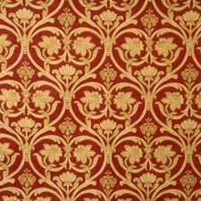Crimson Floral Decorator Fabric by Vervain