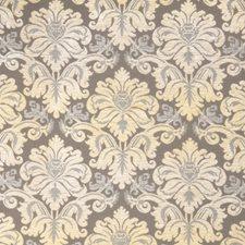 Harbor Grey Damask Decorator Fabric by Stroheim