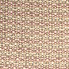 Scarlet Geometric Decorator Fabric by Stroheim