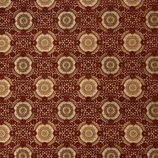 Scarlet Medallion Decorator Fabric by Stroheim