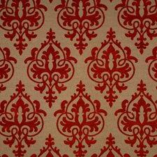 Raspberry Damask Decorator Fabric by Trend