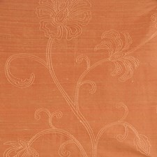 Terracotta Embroidery Decorator Fabric by Trend