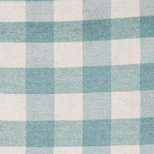 Aqua Mist Check Decorator Fabric by Trend