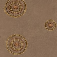 Olive Embroidery Decorator Fabric by Trend