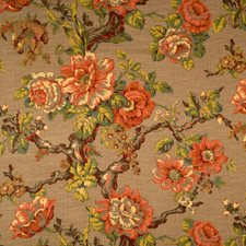 Caramel Floral Decorator Fabric by Trend