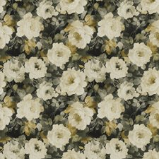 Green Ash Floral Decorator Fabric by S. Harris