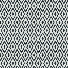 Navy Embroidery Decorator Fabric by Trend