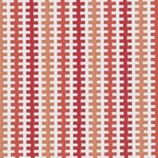 Tangerine Geometric Decorator Fabric by Duralee