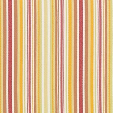 Raspberry/Green Stripe Decorator Fabric by Duralee