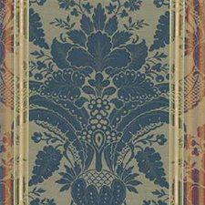 Blue/Beige/Burgundy Damask Decorator Fabric by Kravet