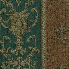Green/Rust Stripes Decorator Fabric by Kravet