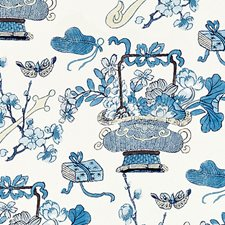 China Blue Decorator Fabric by Scalamandre