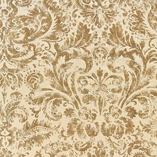 Burnished Gold Print Decorator Fabric by Scalamandre