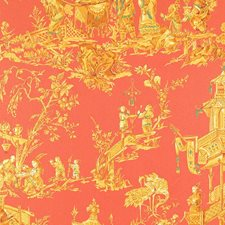 Coral Decorator Fabric by Schumacher