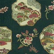 Green/Beige/Burgundy Ethnic Decorator Fabric by Kravet