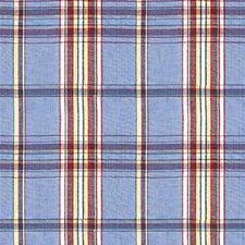 Light Blue/Multi Plaid Decorator Fabric by Kravet