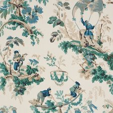 Emerald/Peacock Decorator Fabric by Schumacher