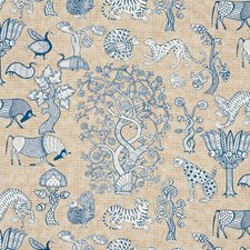 Blue/amp/Natural Decorator Fabric by Schumacher