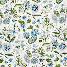 Blue/Ivory Decorator Fabric by Schumacher