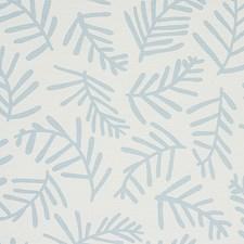 Blue Leaf Decorator Fabric by Schumacher