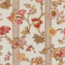 Flame Floral Large Decorator Fabric by Duralee