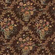 Brown Print Decorator Fabric by Lee Jofa