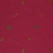 Cherry Stripes Decorator Fabric by Lee Jofa