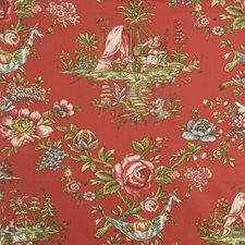 Red Asian Decorator Fabric by Lee Jofa