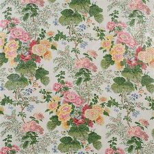 White/Pink Print Decorator Fabric by Lee Jofa
