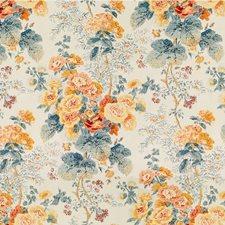 Apricot/Lake Print Decorator Fabric by Lee Jofa