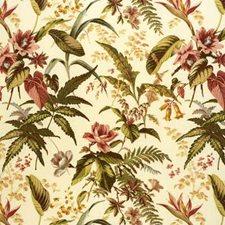 Rose/Olive Botanical Decorator Fabric by Lee Jofa