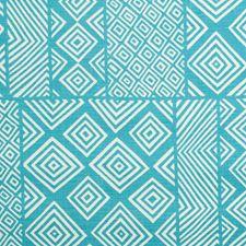 Turquoise Print Decorator Fabric by Lee Jofa