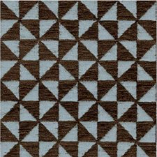 Blue/Brown Geometric Decorator Fabric by Lee Jofa