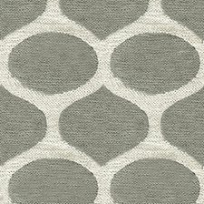 Pewter/Ivory Geometric Decorator Fabric by Lee Jofa