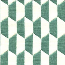Aqua/Ivory Geometric Decorator Fabric by Lee Jofa