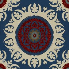 Cobalt Ethnic Decorator Fabric by Lee Jofa