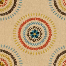 Teal Ethnic Decorator Fabric by Lee Jofa