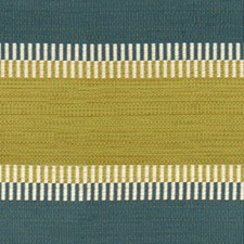 Teal/Citrine Stripes Decorator Fabric by Lee Jofa