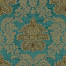 Teal Embroidery Decorator Fabric by Lee Jofa