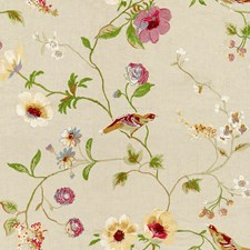 Alabaster Embroidery Decorator Fabric by Lee Jofa