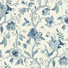 Blue Jacobeans Decorator Fabric by Lee Jofa