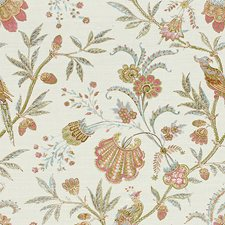 Pink/Aqua Botanical Decorator Fabric by Lee Jofa