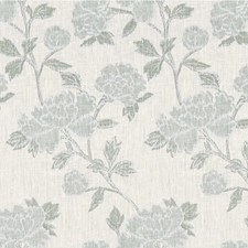 Ivory/Lake Botanical Decorator Fabric by Lee Jofa